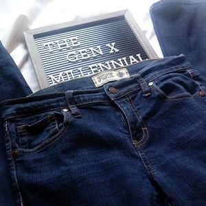 Victoria Secret PINK Dark Blue Jeans Size 10